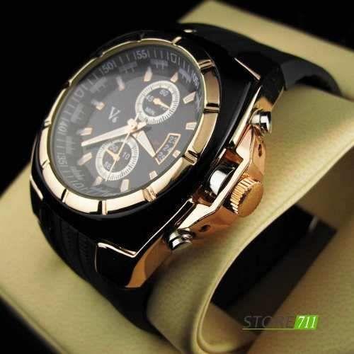 a6ffdafe7a6 Relógio Pulso Grande V6 Quartz Dourado - Loja de ofertaimportados